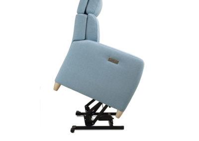TP14 Sillón puesta en pie, con botonadura en el brazo, asiento y respaldo abatibles, tapicería a elegir.