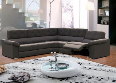 TP19 Sofá rinconera con sistema relax eléctrico con botonadura, tapicería a elegir.