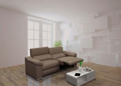 TP20 Sofá 3 plazas, 2 asientos con sistema relax eléctrico con botonadura, tapicería a elegir.