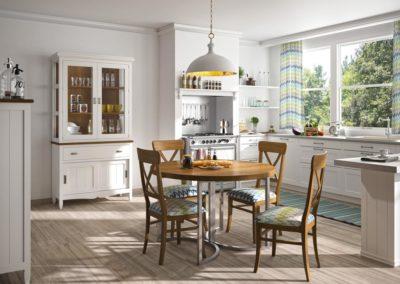 SR12 Comedor para office en madera maciza tintada, combinado en dos acabados, con posibilidad de diferentes medidas de mesa.