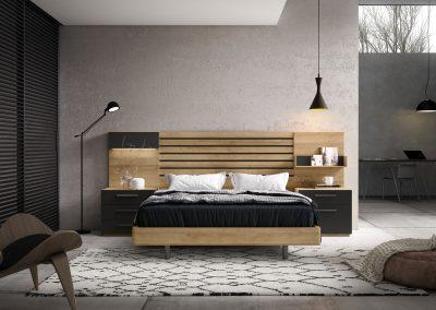 DM14 Dormitorio chapa sintetica combinado