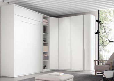 AV20 armario rincon con cama abatible